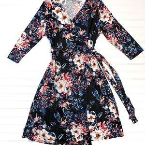 Floral Lularoe Michelle Wrap Dress BNWT
